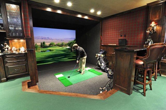 Man Cave Garage Minnesota : A golfers dream for the home pinterest golf men