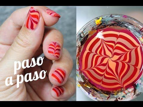 Cómo hacer pegatinas de uñas | DECORACIÓN AL AGUA - YouTube