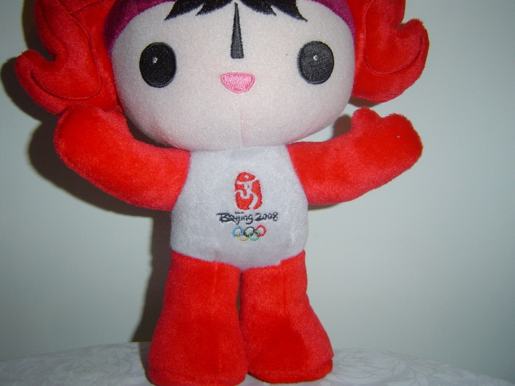 Beijing Summer Olympics Mascot Plush Huanhuan the Olympic Flame 14 inches  Offered by #MyTexasTreasures on Bonanza.com