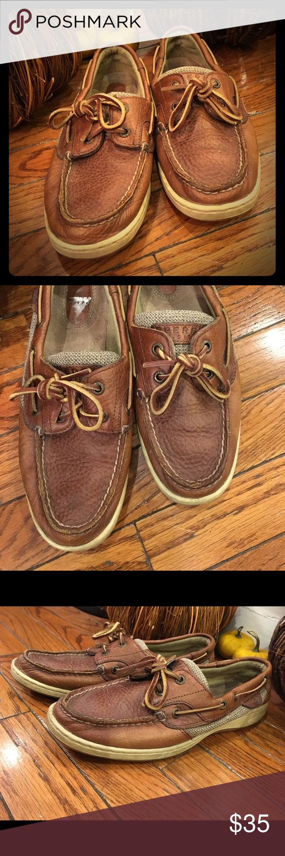 Vintage Brown Sperry's Great shape. Brown sperry's, work infrequently. Perfect for fall! Super comfy. Shoes Flats & Loafers