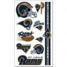 St Louis Rams Temporary Tattoos | #StLouis #Missouri #Rams #StLouisRams #Memorabilia #Sports #Merchandise #Football #NFL | Order Today At www.sportsnutemporium For Only $1.95