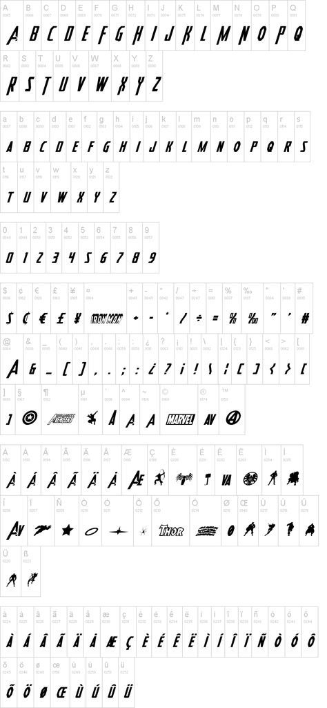 Free Avengers font download