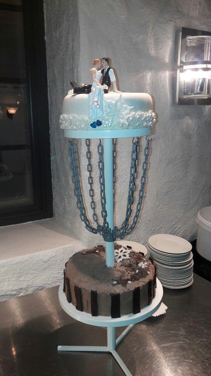 Frisbeegolf wedding cake