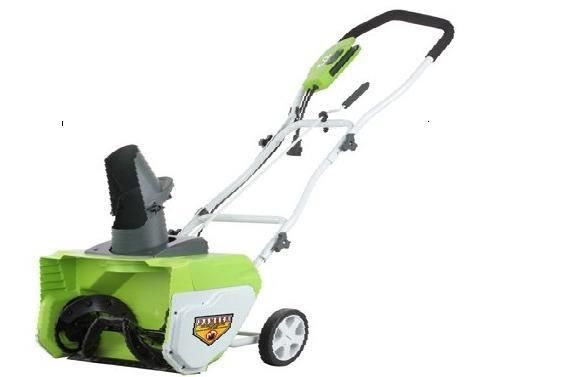 Greenworks Electric 12 Amp 20  Electric Snow Thrower Throw Snow 20 ft 26032 NEW