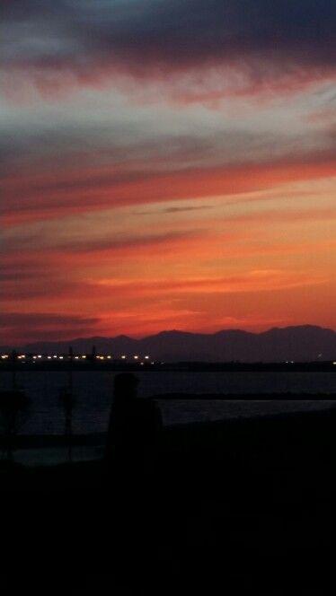 Tramonto su Cagliari dal Lazzaretto