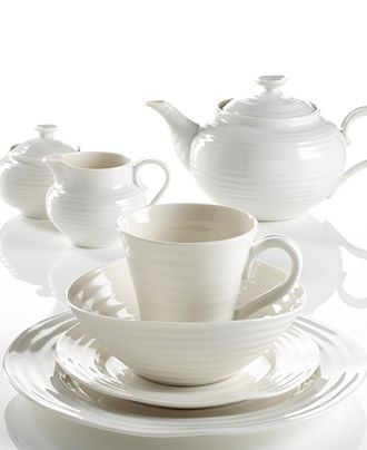"Portmeirion ""Sophie Conran White"" DInnerware next dish set for sure! Love the simplicity"