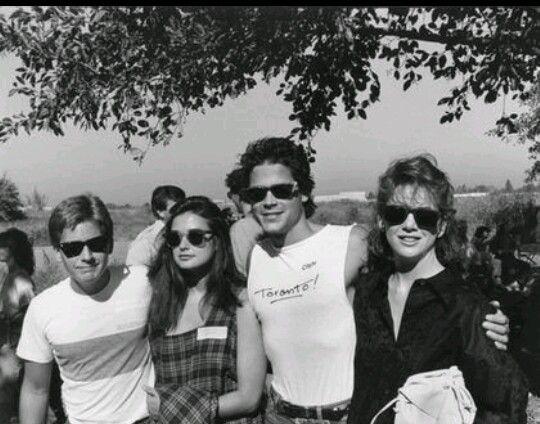 Celebrity anti-war - Emilio Estevez, Demi Moore, Rob Lowe,  Melissa Gilbert in 1985