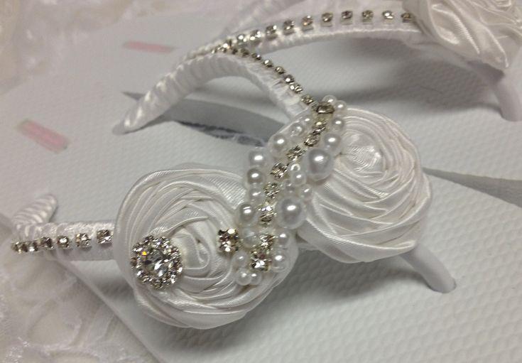 Bridal Flip Flops / White Rolled Flowers Flip Flops / Wedding Flip Flops / Bridesmaids.. $36.00, via Etsy.