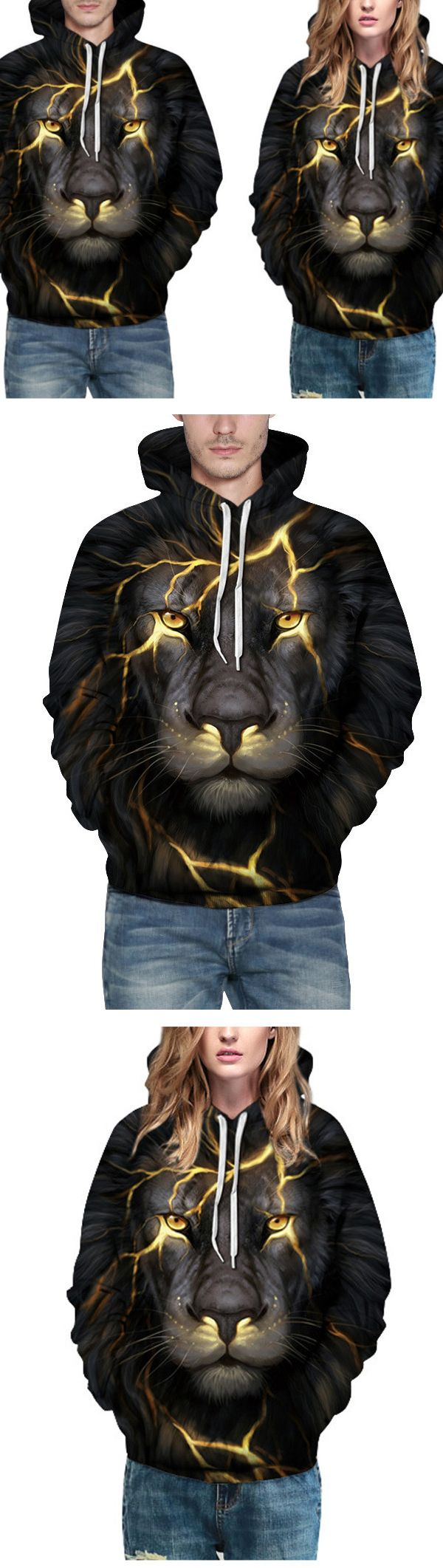 US$31.97 + Free shipping. Size: S~3XL. Fall in love with casual and sports style! Fashion Personality Lion Hooded Sweater Unisex Casual Digital Printing Baseball Uniform Sport Hoodie. #hoodies #unisex