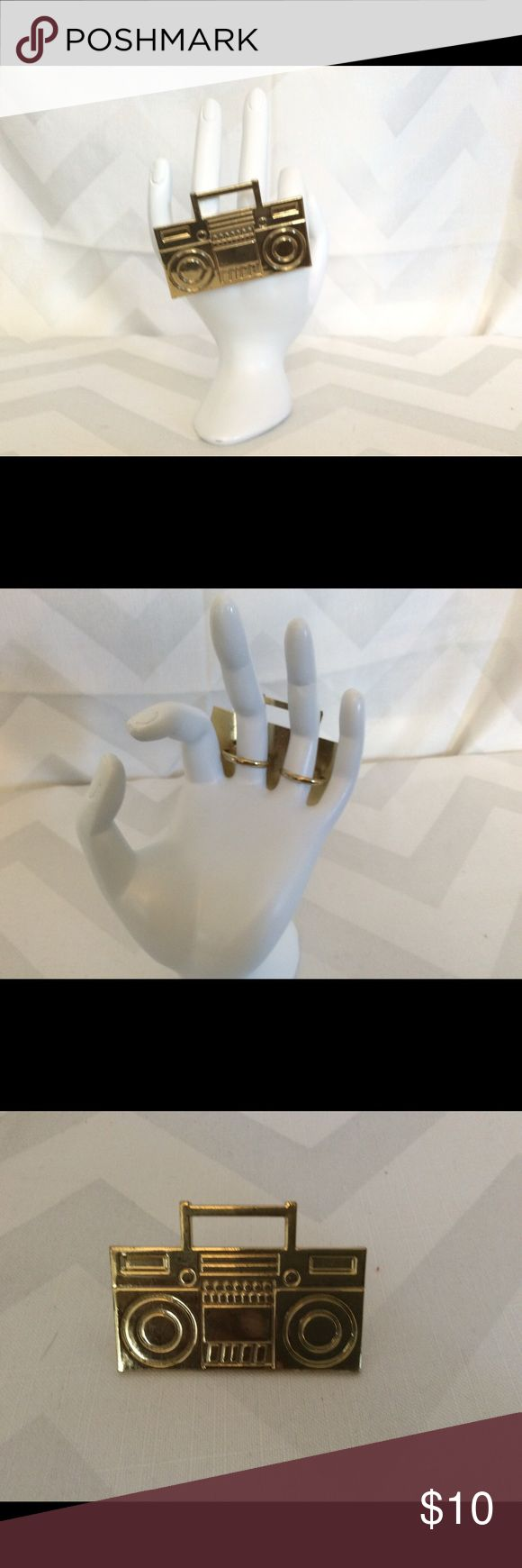 Retro Ring Retro radio, two finger gold ring Jewelry Rings