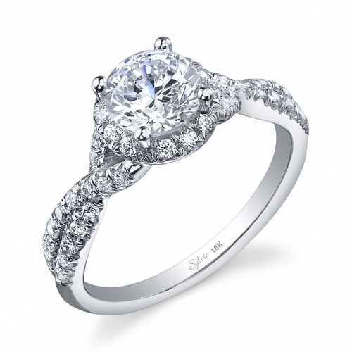 engagement ring with twisted band wedding rings. Black Bedroom Furniture Sets. Home Design Ideas