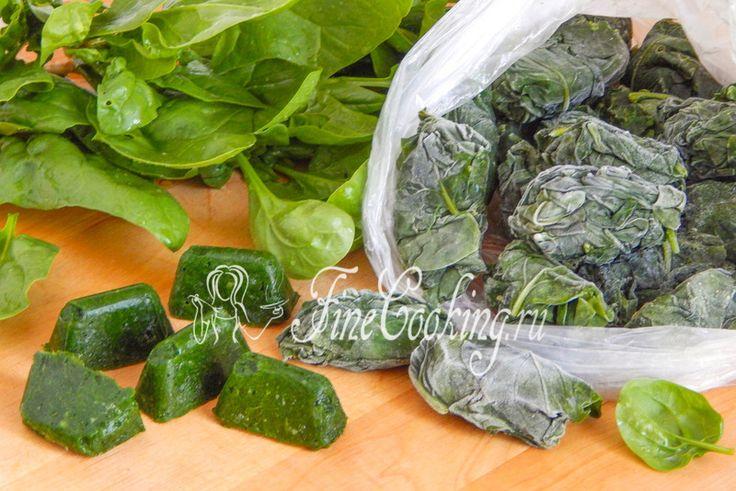 Замороженный шпинат на зиму - рецепт с фото