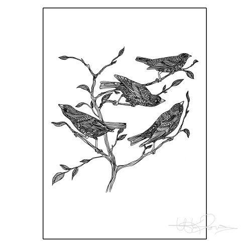 Sunday morning - Printed illustration