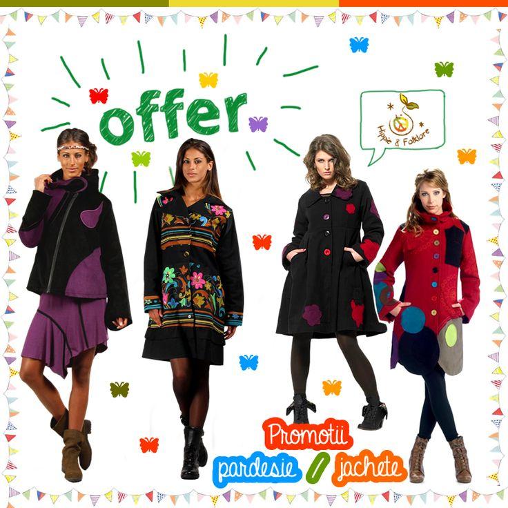 ⛄ PREŢURI PROMOŢIONALE pardesie şi jachete !!  ॐ www.hainehippie.ro/67-pardesie-jachete-veste