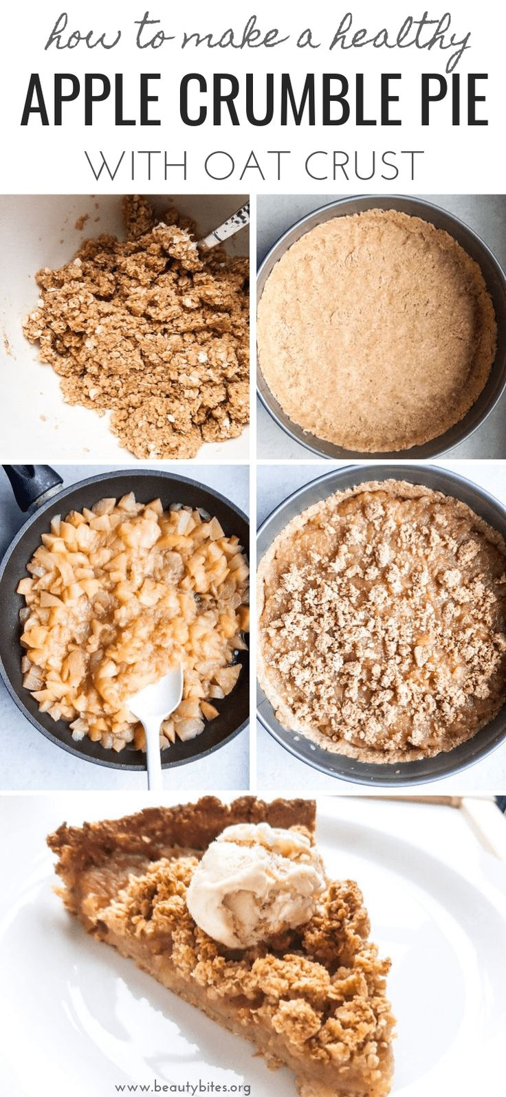 Healthy Apple Crumble Pie Flourless, Vegan, GF
