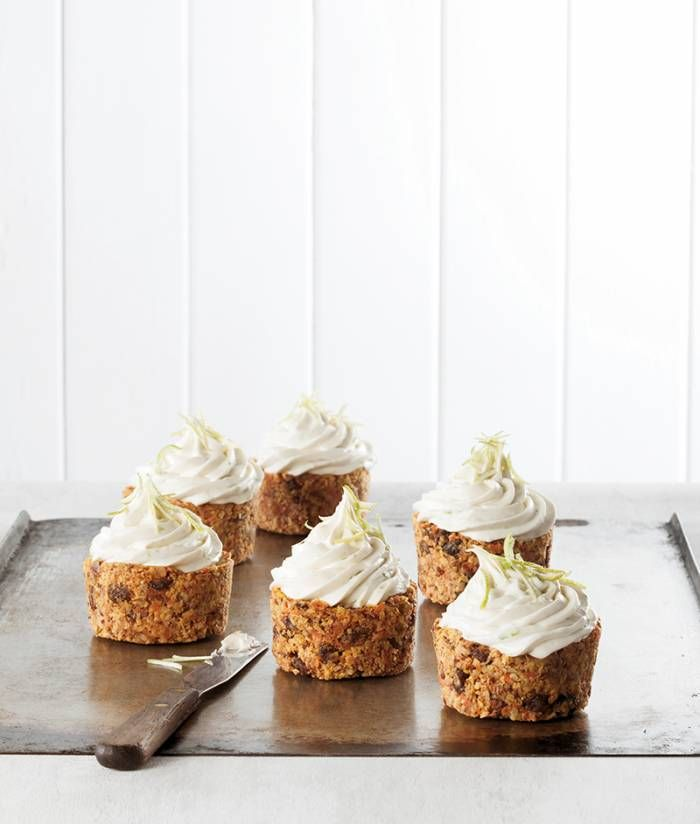 Mini Carrot Cakes with Coconut Lime Frosting