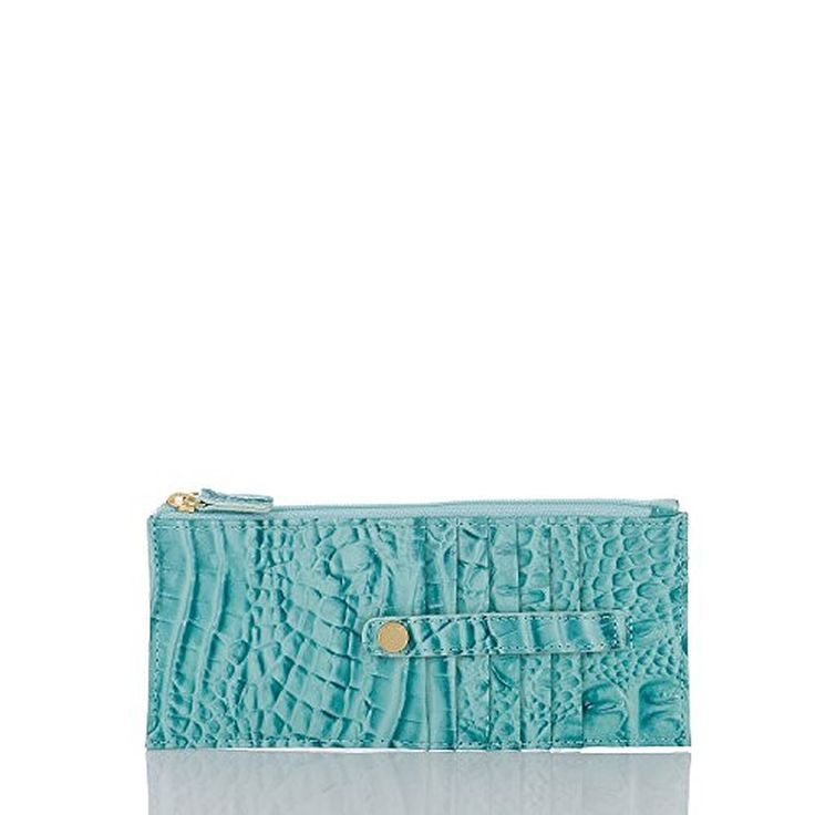 NEW AUTHENTIC BRAHMIN EXOTIC LEATHER CREDIT CARD CASE WALLET (Glass Glossy Melbourne)