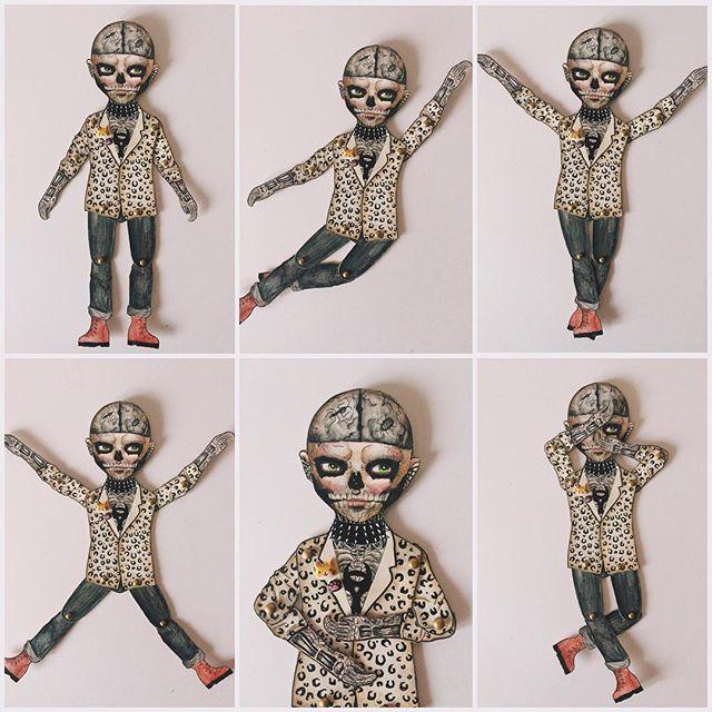WEBSTA @ _rockanddoll_ - Sunday with #zombieboy #paperdoll  // Воскресный день с танцующим ЗомбиБоем  А ещё с пьющей кофе и разгребающей кучу писем на почте Кристиной. Сейчас закончу, и пойду гулять-знакомиться по сфс #zombie #rickgenest #genest #art #artdoll #dollart #artoftheday #illustrate #illustrator #illustration #watercolor #tattoo #tattoodoll #sketch #sketchbook #ooakdoll #handmade #paperart #paperartwork #vsco #зомбибой #бумажнаякукла