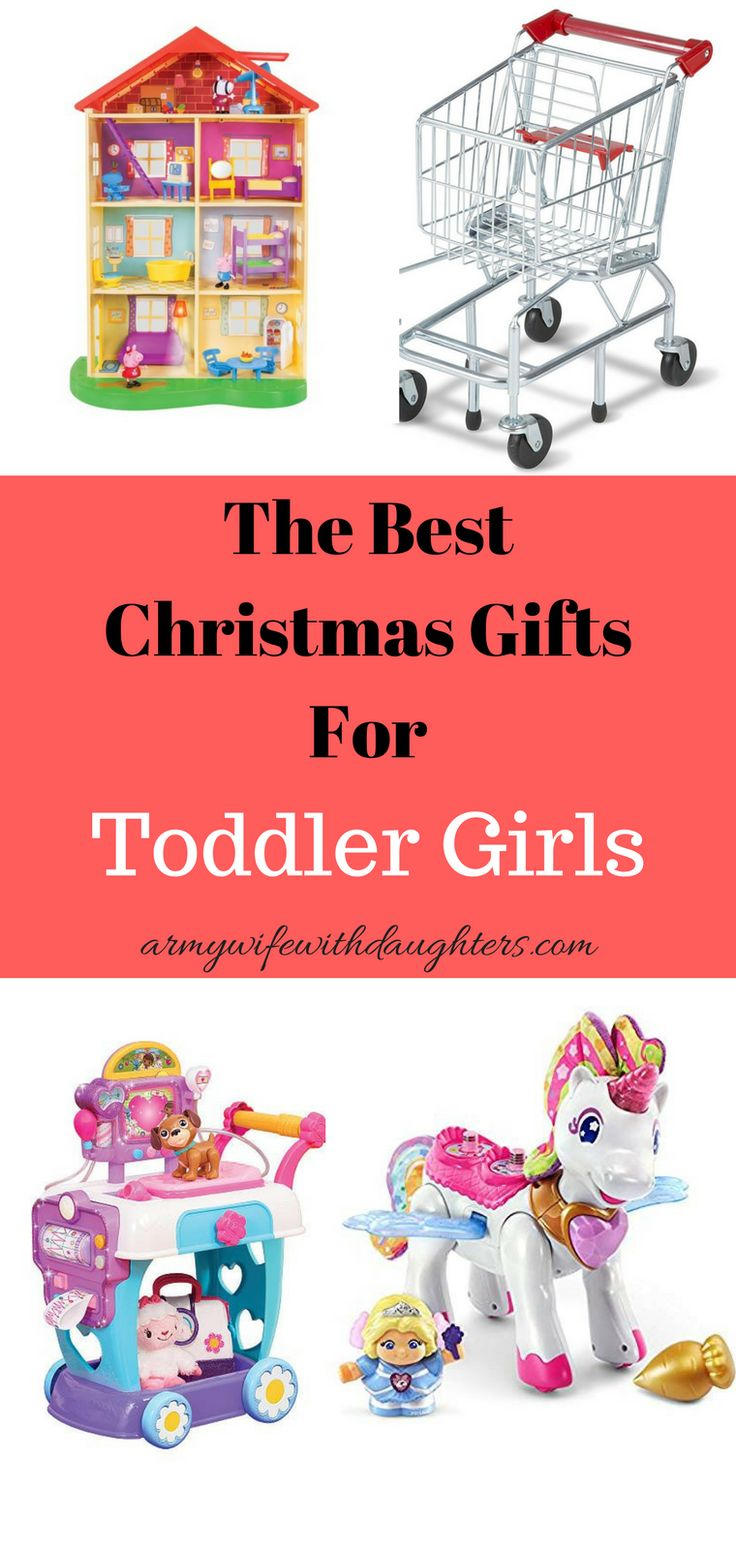 The best Christmas gift ideas for toddler girls. As the mom of three girls these Christmas gifts are sure to be a winner.