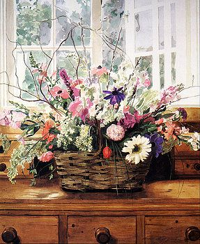 Cutting Garden Arrangement by David Lloyd Glover
