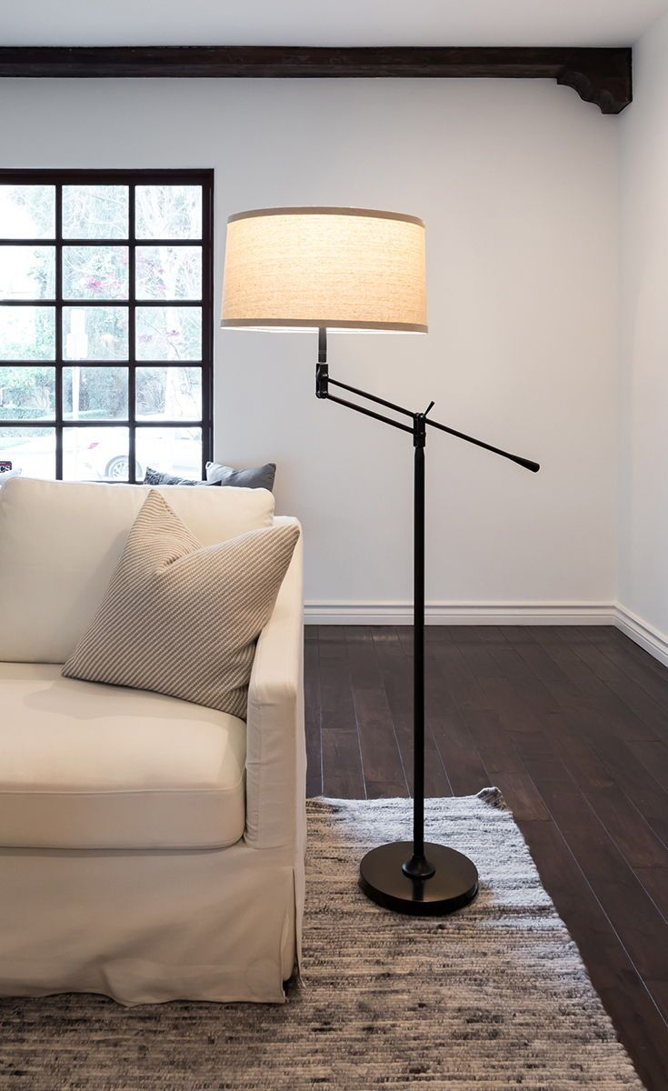 The Ava Lamp Has A Height Adjustable Upper Arm That Allows You To Adjust The Height Of This Lamp Lamps Living Room Living Room Lighting Floor Lamps Living Room #pole #lamps #for #living #room
