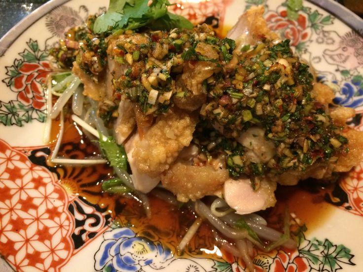 中国料理 酒中花 空心  油淋鶏  #人気中華  #行列が出来る #大阪市  #西区  #新町  #西大橋  #ランチ