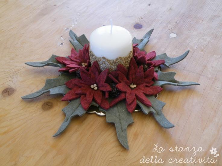 Centrotavola di Natale in feltro