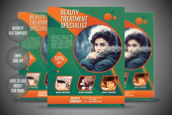 Beauty Care Flyer Template by meisuseno on @creativemarket