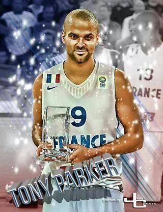 Spurs Tony Parker. Team France Basketball player