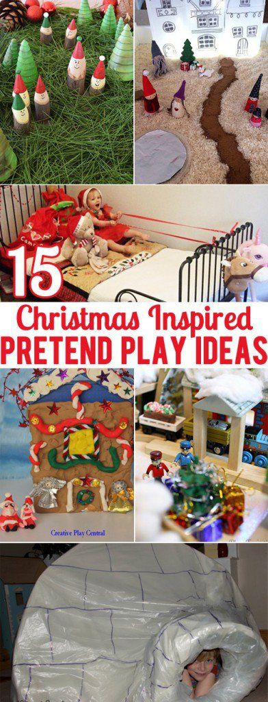 Have fun playing pretend this Christmas with these 15 ideas for small world and dramatic play.