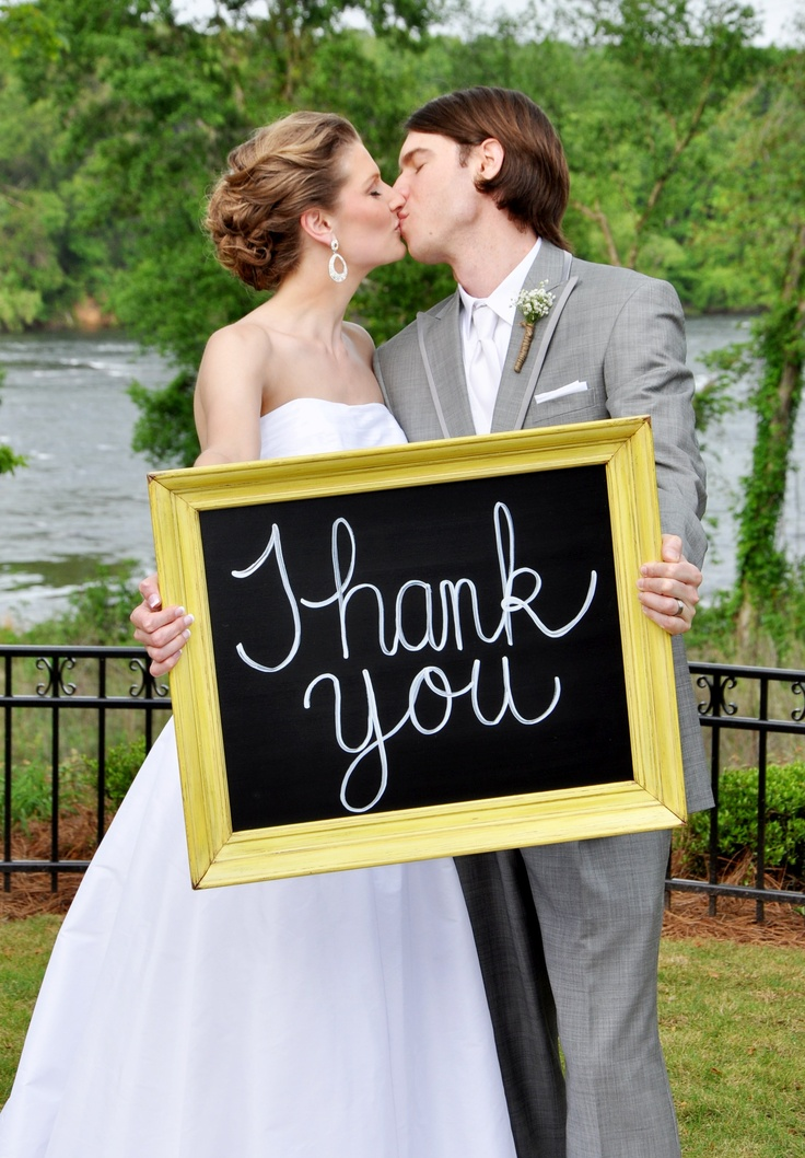 Wedding Thank You Chalkboard
