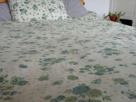 Floral Vintage Duvet Cover Set // Twin/Single Cover and