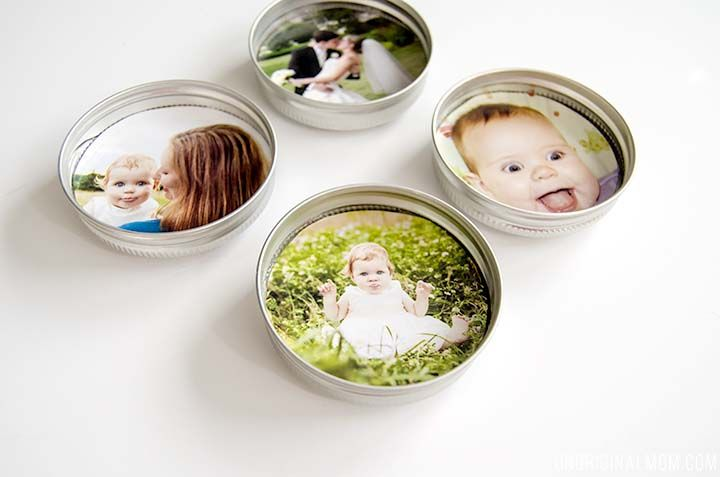 Upcycled Mason Jar Lid Magnets - unOriginal Mom
