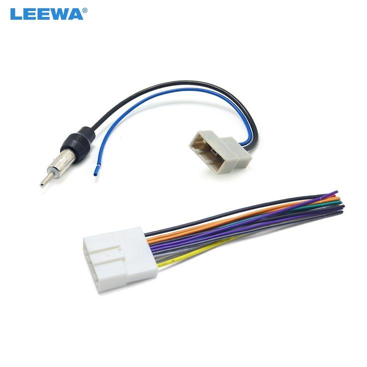 10set car cd audio stereo wiring harness antenna adapter