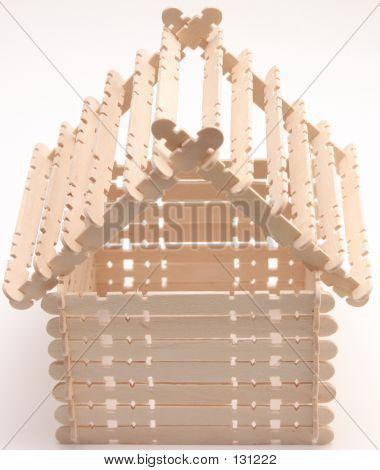 pinterest crafts popsicle sticks birdhouses | Popsicle Stick House Stock Photo & Stock Images | Bigstock