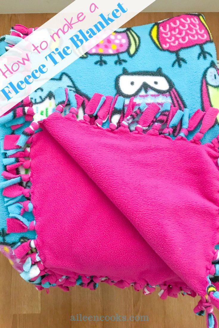 How To Make A Fleece Tie Blanket Tie Blankets Fleece Tie Blankets Diy Tie Blankets
