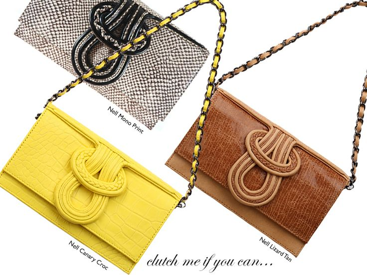 New Nell Calf Bags - 3 way bags in embossed calf leather.