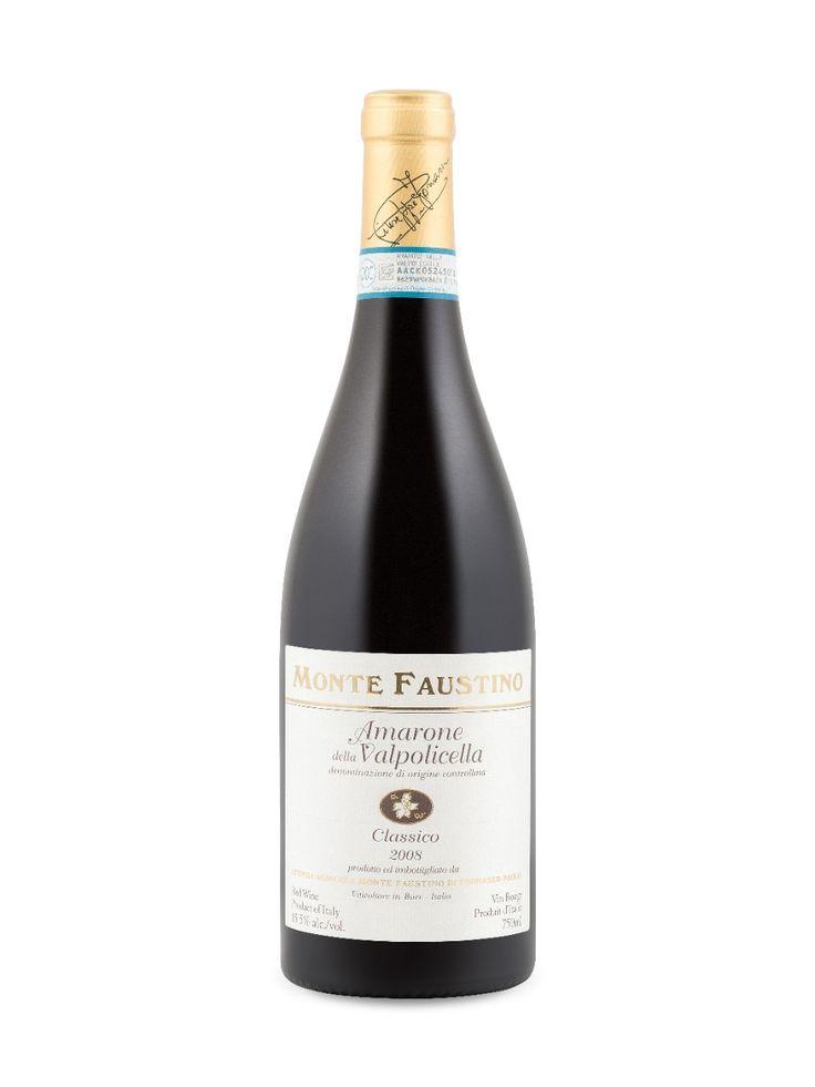 Monte Faustino Amarone Della Valpolicella Classico 2008 Veneto D.O.C., Italy Natalie's Score: 91/100 http://www.nataliemaclean.com/wine-reviews/monte-faustino-amarone-della-valpolicella-classico-2008/217601 #wine