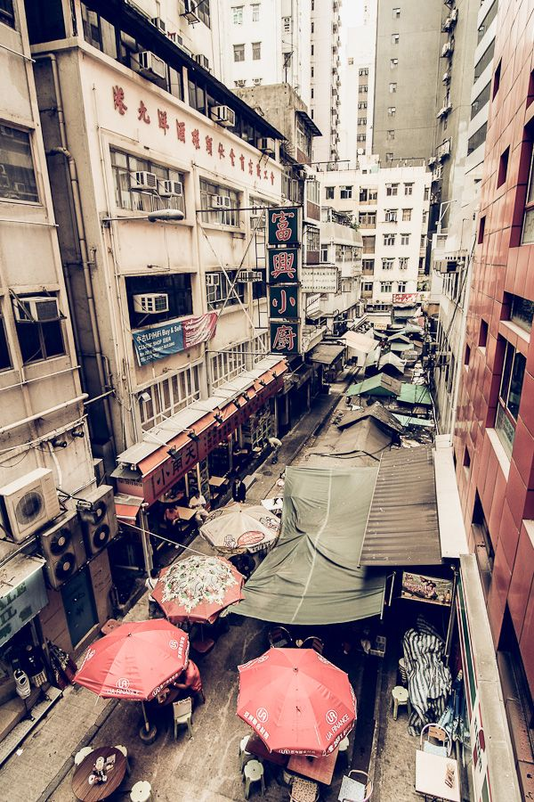 Bird's-eye view of hong kong street by juhku.deviantart.com on @deviantART