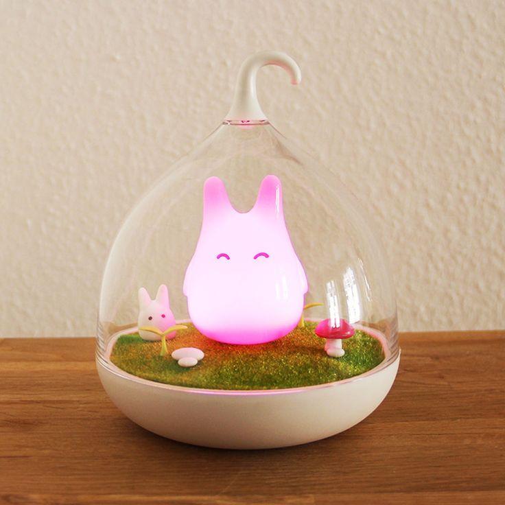 LED Baby Kinder Nachtlampe Nachtlicht Leuchte Nightlight pink