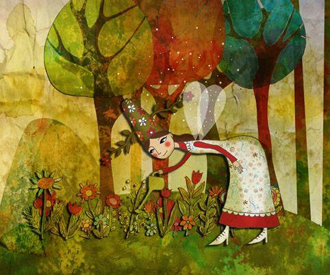 flowers   art print illustration home decoration