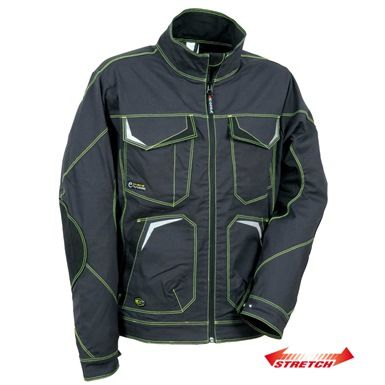 The Cofra V480 Abrantes Jacket comes with a wealth of pockets and is made of 100% stretch fabric. It also features abrasion resistant elbow patches.