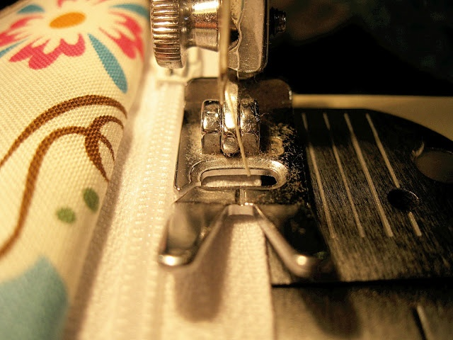 A tip on how to easily sew a zipper without using a special zipper foot!