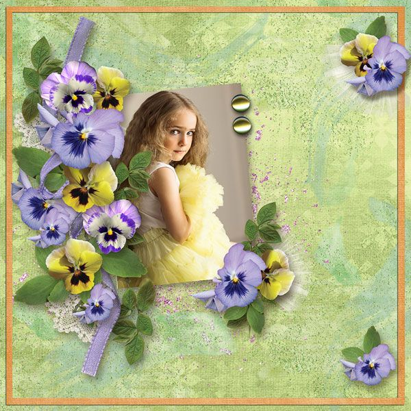 """""""Pansy Garden"""" - Collection by Alexis Design Studio  http://www.thedigichick.com/shop/Pansy-Garden-Collection.html  save 62%  ADS_Springtime In April-FanGift  photo Maria Gert Photography use with permission"""