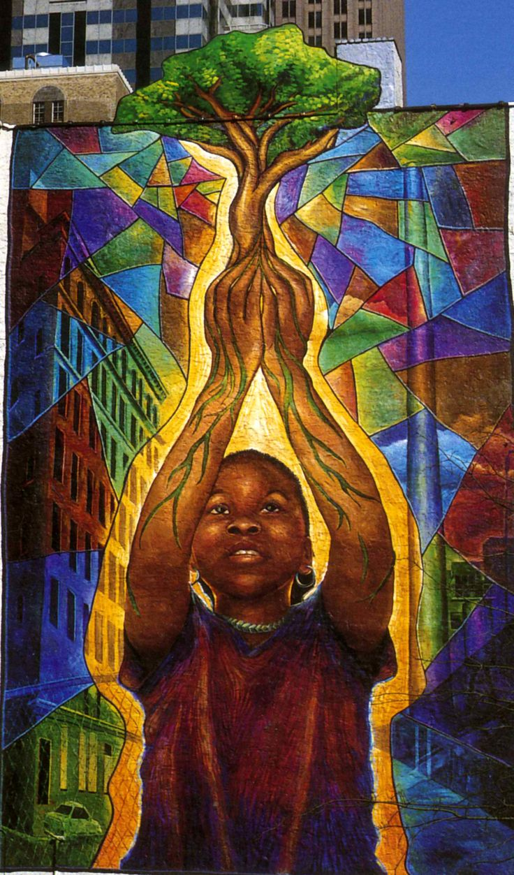 Reach high and you will go far josh sarantitis 20th and for African mural painting