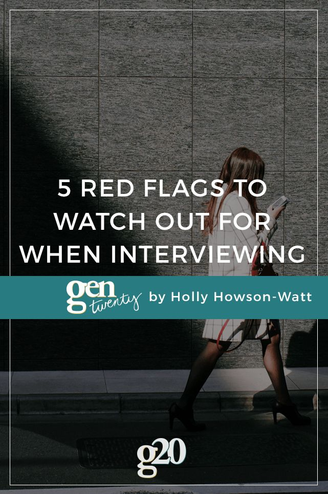 Here Are 5 Major Red Flags You Should Watch Out For When Interviewing For A  New