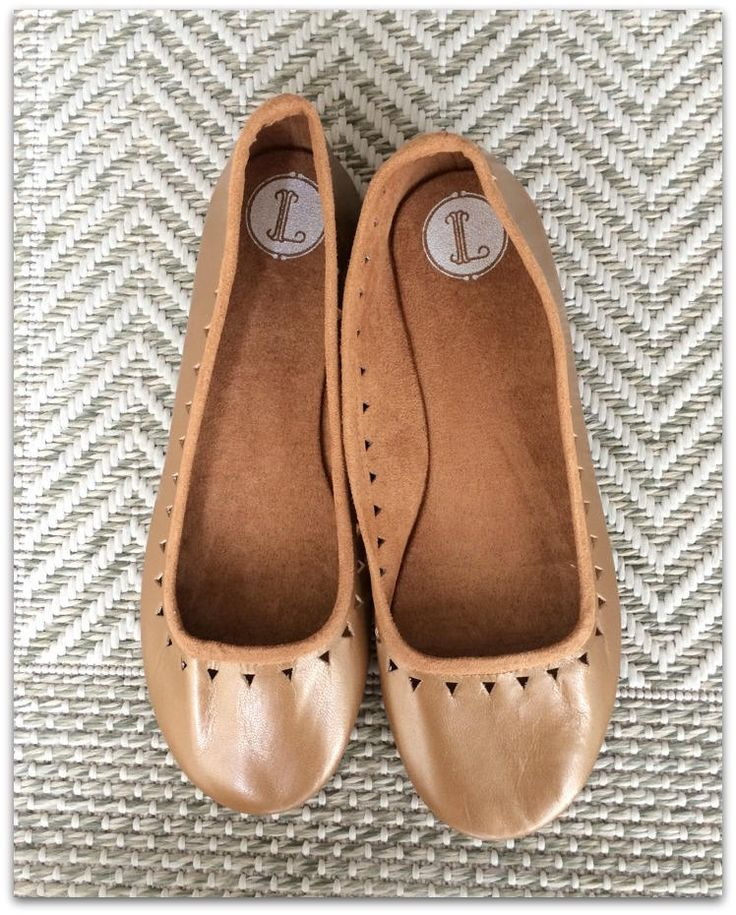 40 Sale AZTEC- Ballet Flats - Leather Shoes - 40-  Caramel Leather Sale size 40 ONLY by Lolliette on Etsy