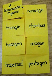 Love this... Shelby uses this for vocab in science too... great 2-Dimensional Shapes foldable