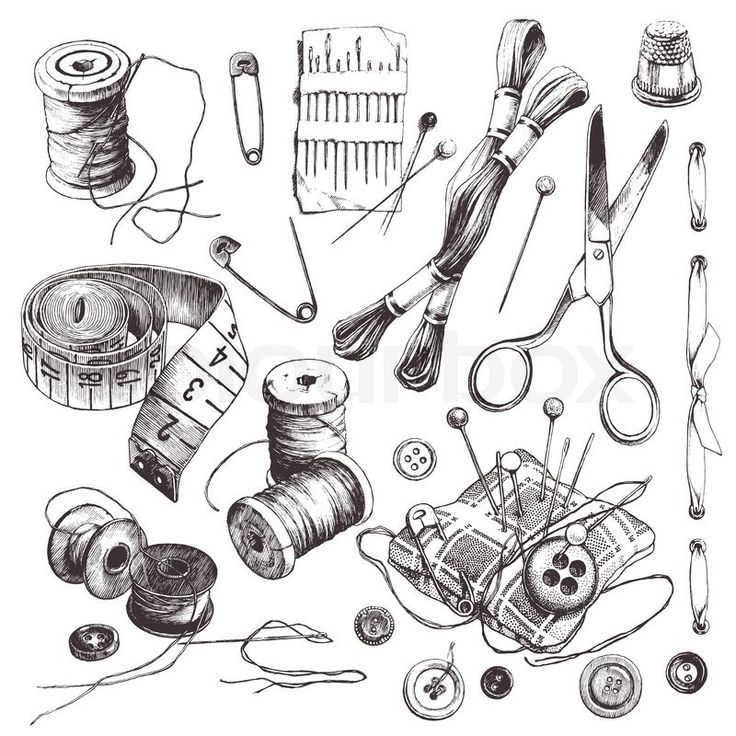 Vintage Sewing Clip Art Clipart