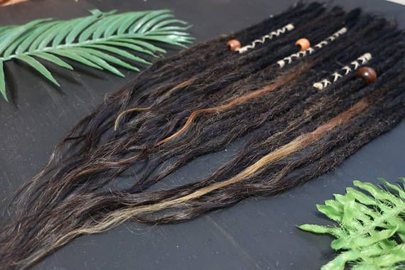 Human hair extensions dreads 23 pcs Length: 55 ( 21,5inch) Width: 0,5 cm * I usually send them within 1-3 working days of receipt of payment. Dredlocks will be carefully packed and shipped via registered airmail from Russia, Russian Post - the national postal service. Tracking #hairextensions